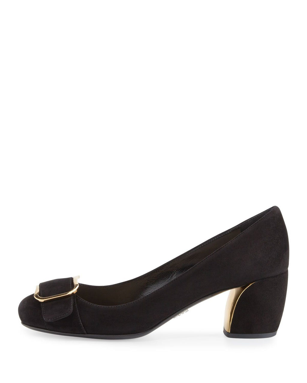 Prada Suede Buckle-Toe 55mm Pump