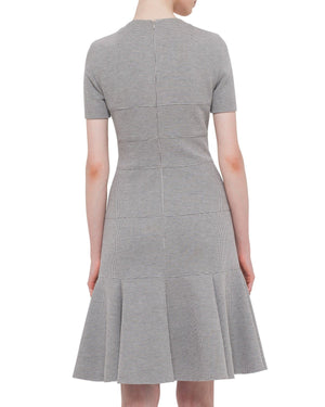 Akris Punto Women's Gray Short-sleeve Ribbed Jersey Dress