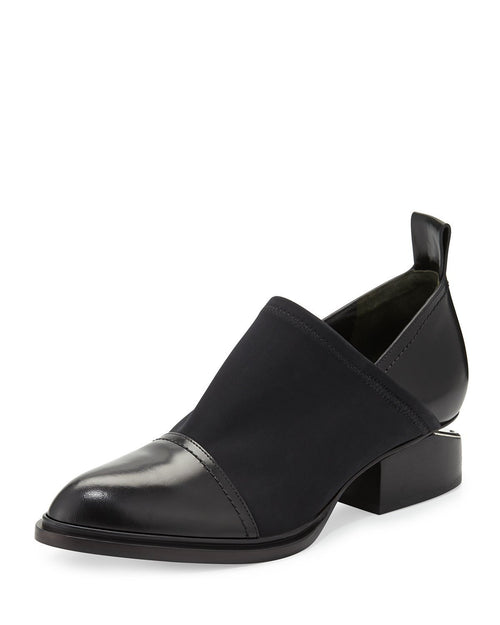 Alexander Wang Kori Stretch Neoprene & Leather Shoe, Black