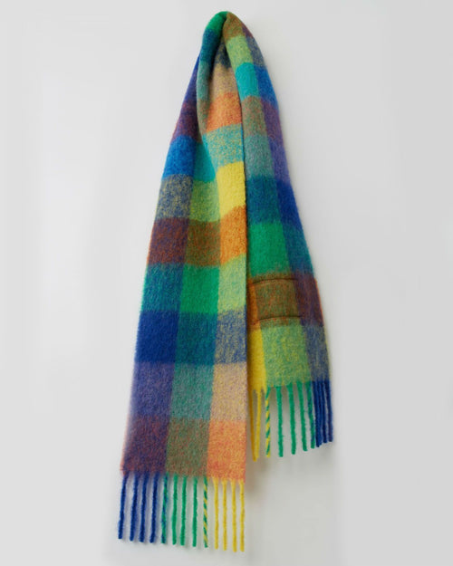 Acne Studios Multi Check Scarf Blue/Orange/Green