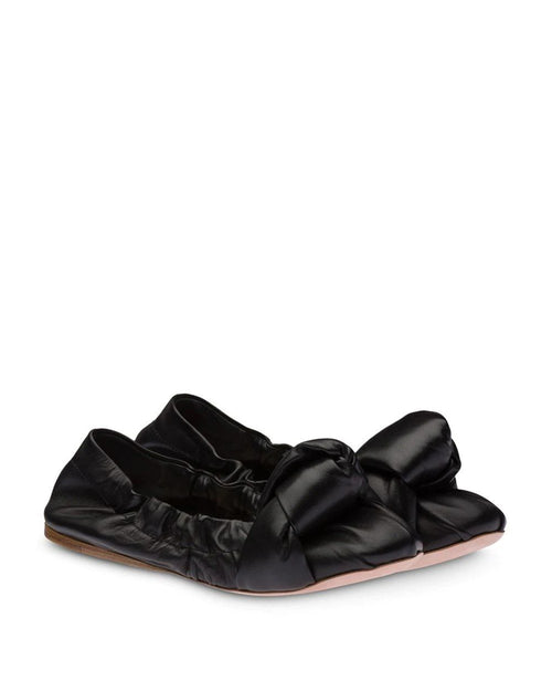 Miu Miu Knot Detail Ballerina Shoes