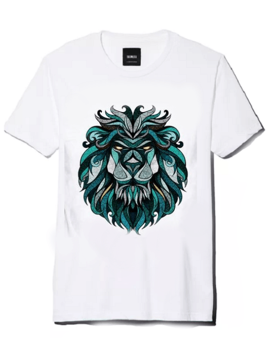 Men's Green Lion 3D Print T-Shirt