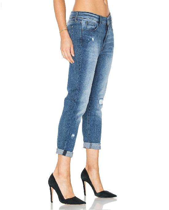 0235224f59a19 DL1961 Jessica Alba No. 6 Cropped Relaxed Jeans In Scratched