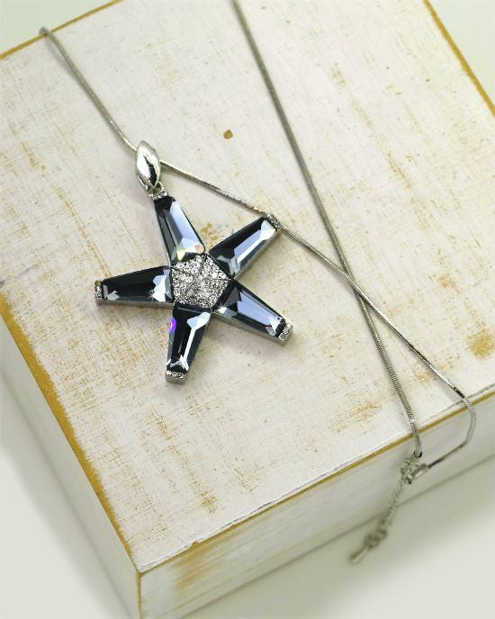 Steffe Jewelry Crystal Star Pendant Necklaces - Fashionbarn shop