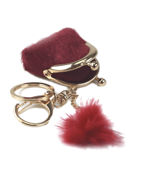 Steffe Fuzzy Mini Bag Fur Key Fob-STEFFE-Fashionbarn shop