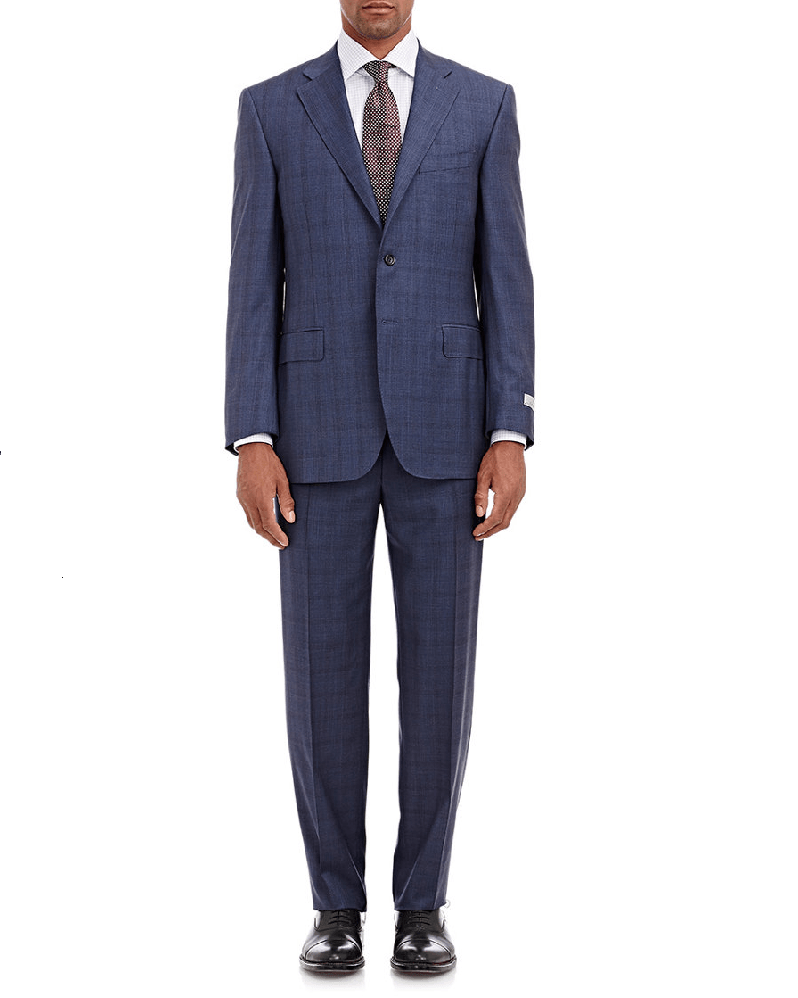 CANALI Windowpane-Plaid Two-Button C Soft Suit-CANALI-Fashionbarn shop