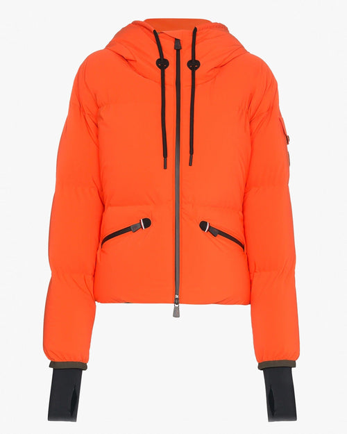 Moncler Grenoble Airy Down Puffer Jacket In Orange