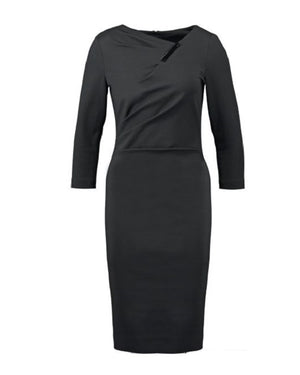 Escada Darrunas Shift 3/4 Sleeve Jersey Dress
