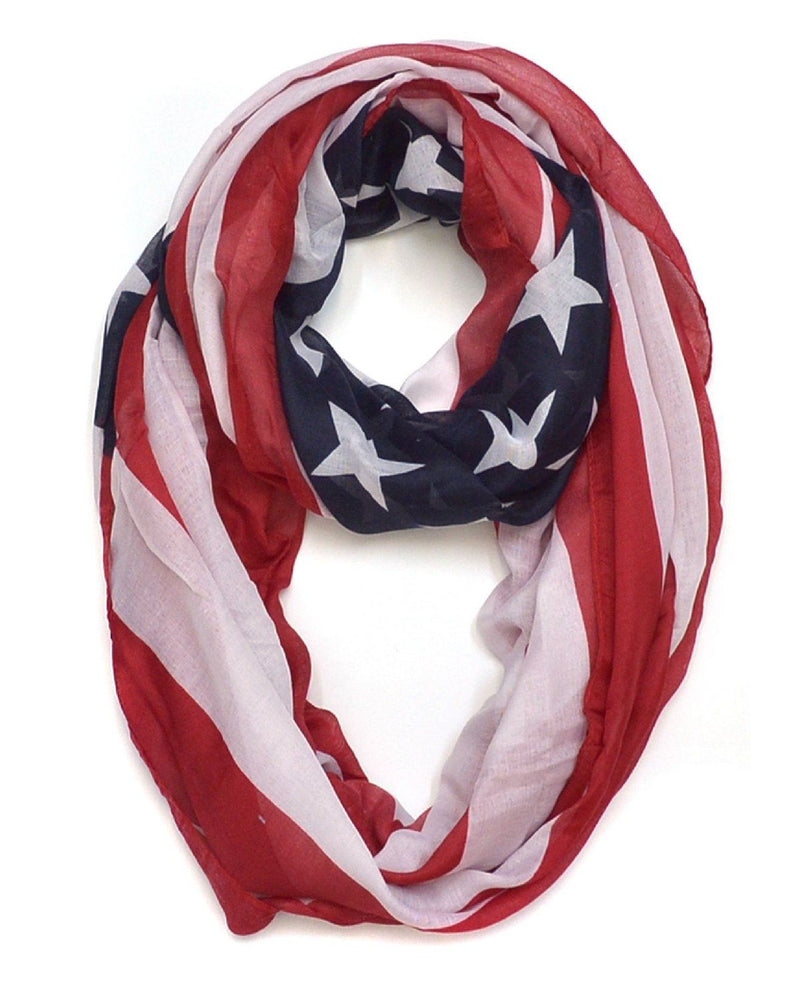 Collection XIIX Distressed Flag Infinity Scarf