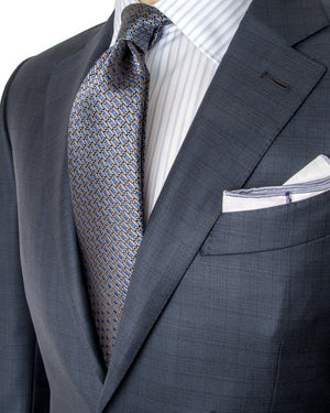 ERMENEGILDO ZEGNA Glen Plaid Wool Two-Piece Suit