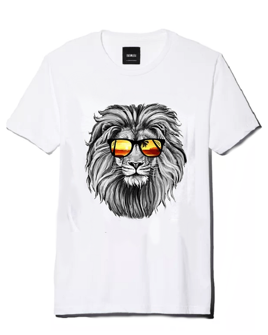 Men's Lion 3D Print Cotton T-Shirt