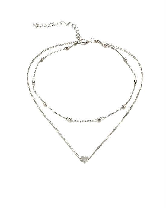 Steffe Sterling Silver Heart Pendant Necklace
