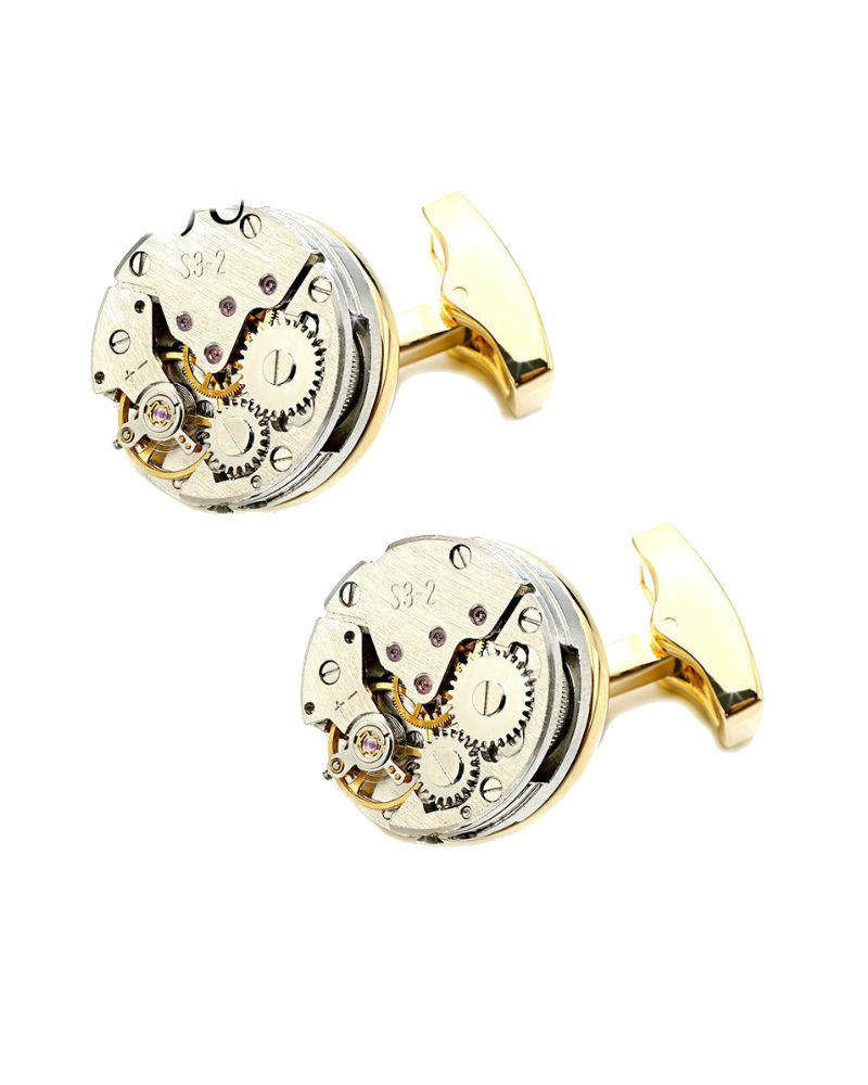 Steffe Men's Watch Movement Cufflinks