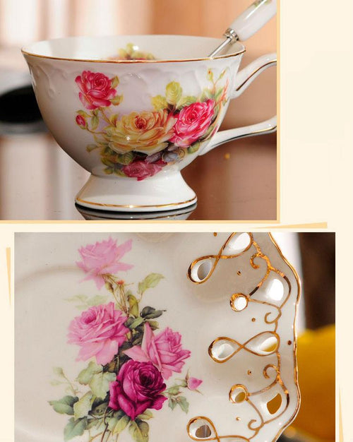British High-Grade Bone China European Tea Cup Set