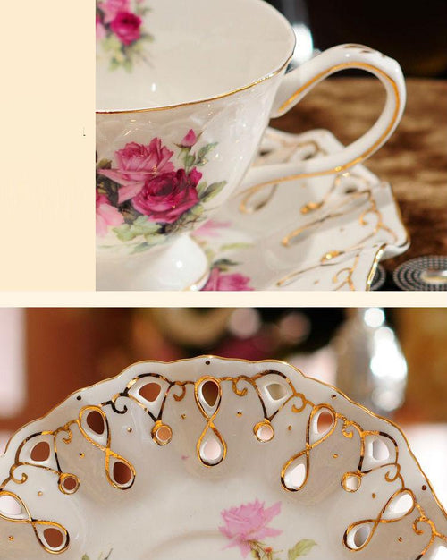 British High-Grade Bone China Tea Cup Set