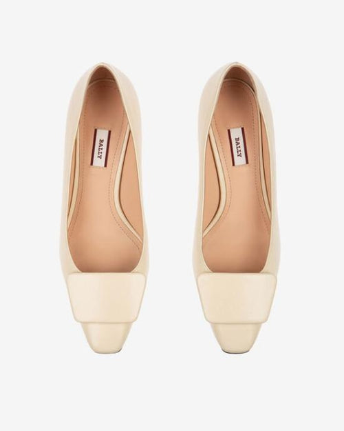 Bally Claudie Leather 45 Pumps In White