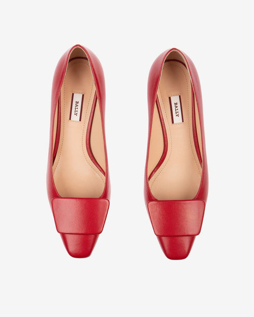 Bally Claudie Leather 45 Pumps In Red