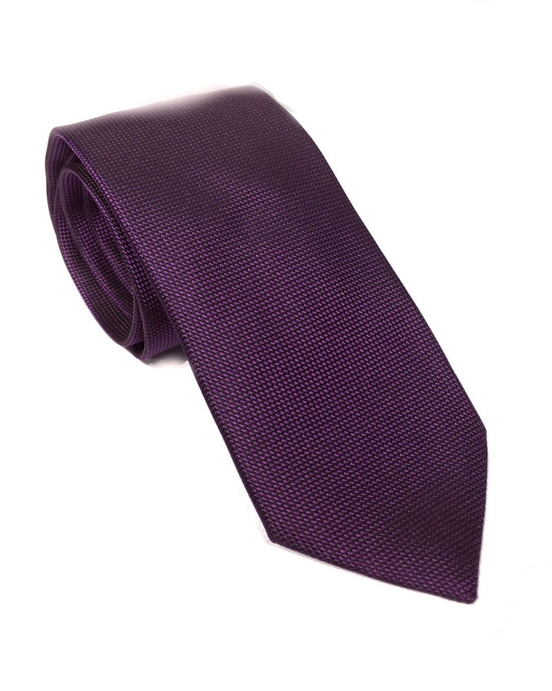 Ermenegildo Zegna Men Slim Silk Neck Tie Purple