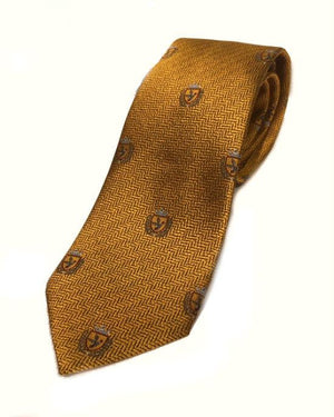 Ermenegildo Zegna Men Crown Silk Neck Tie, Gold