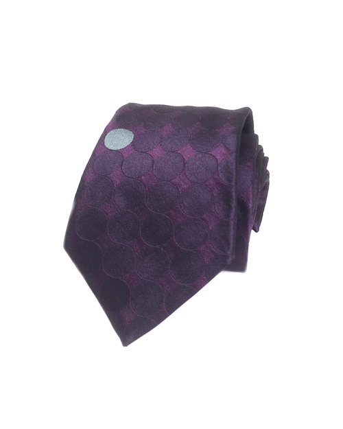 Embellished Textured Dot-Pattern Silk Necktie