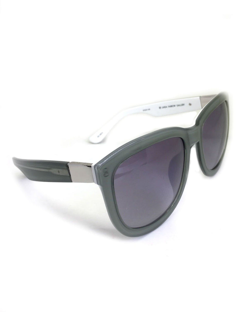 LINDA FARROW TEMPLE D-FRAME SUNGLASSES