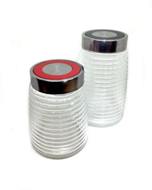 Home Basics® Glass Canisters (Set of 2)