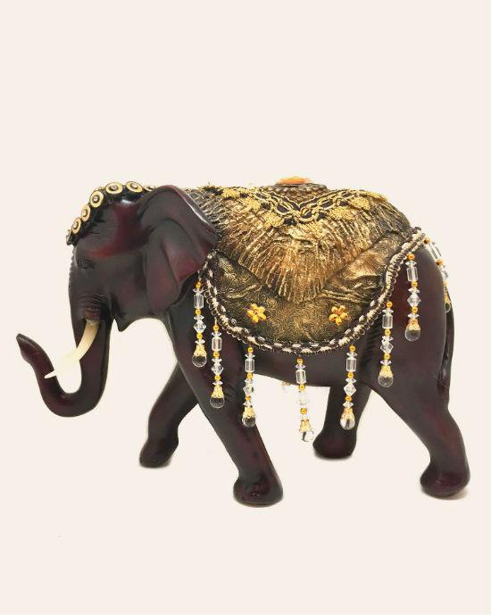 LUCKY HOME IMITATION MAHOGANY ELEPHANT CRAFTS HOME DECORATIONS ORNAMENTS
