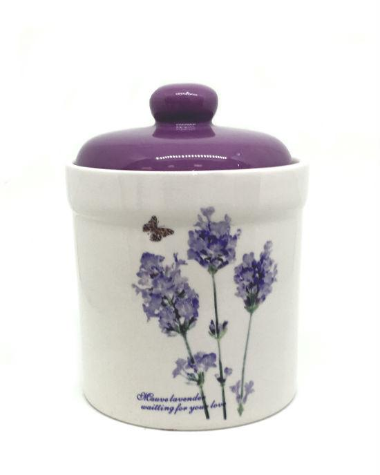 HOMEMAX Lavender Coffee, Sugar & Tea Canisters 3 Set