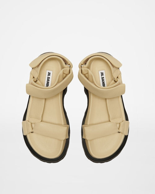 Jil Sander Beige Leather Sandals