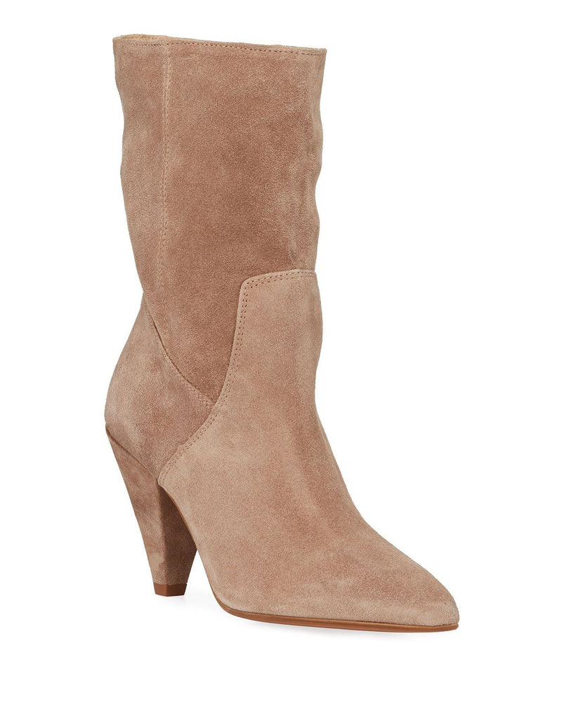 Kenneth Cole Labella Suede Tapered-Heel Booties