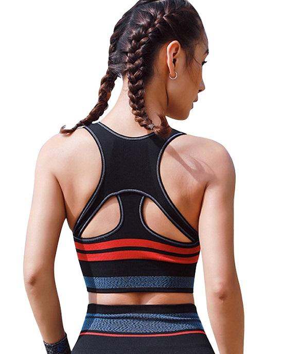 Women's Cross Back Strappy Running Sports Bra