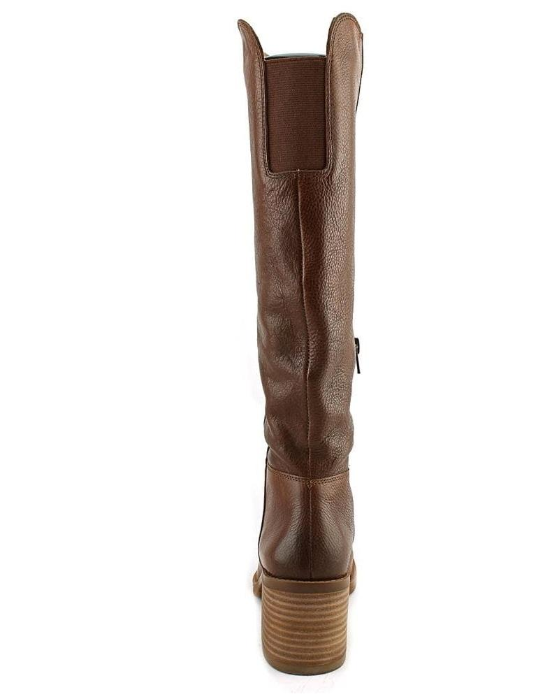 7644f2b27dc Lucky Brand Ritten Wide Calf Women Round Toe Leather Brown Knee High Boot