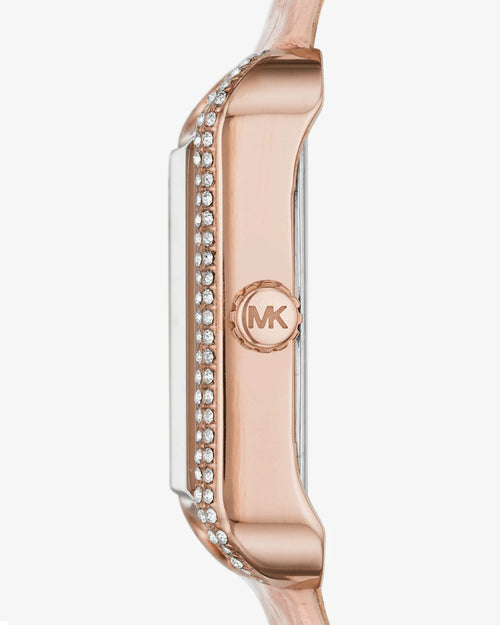 MICHAEL KORS Lake Crocodile-Embossed Leather Watch