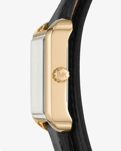 MICHAEL KORS Lake Gold-Tone and Leather Wrap Watch