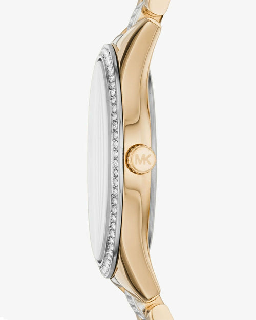 MICHAEL KORS Mini Lauryn Pavé Two-Tone Watch