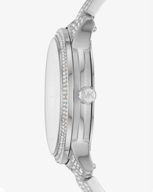 MICHAEL KORS Runway Pavé Silver-Tone Watch