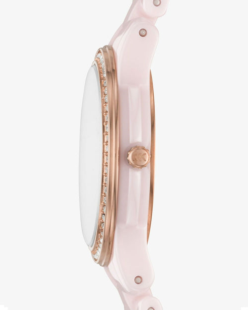 MICHAEL KORS Petite Runway Pavé Ceramic Watch