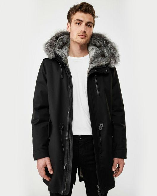 Mackage Men's Moritz fur-lined parka with removable silverfox fur trim