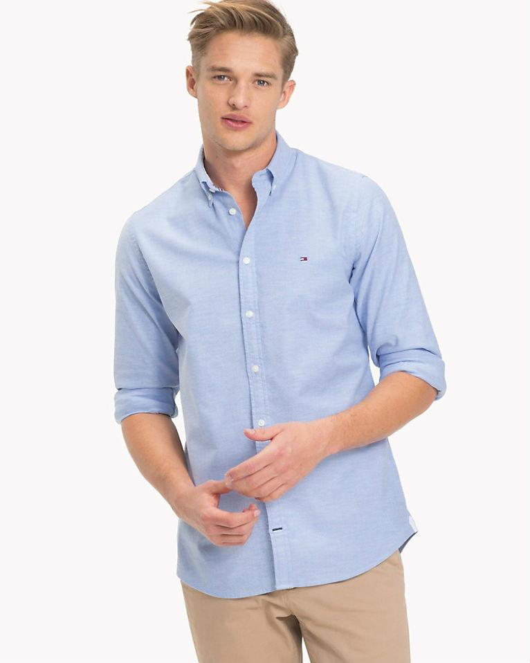 Tommy Hilfiger Slim Fit Stretch Cotton Oxford Shirt