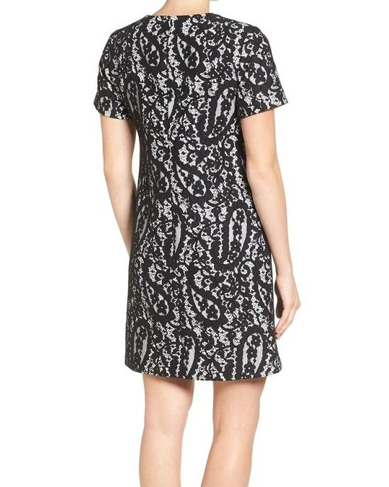 Michael Kors Black White Sheath A-Line Lace Dress