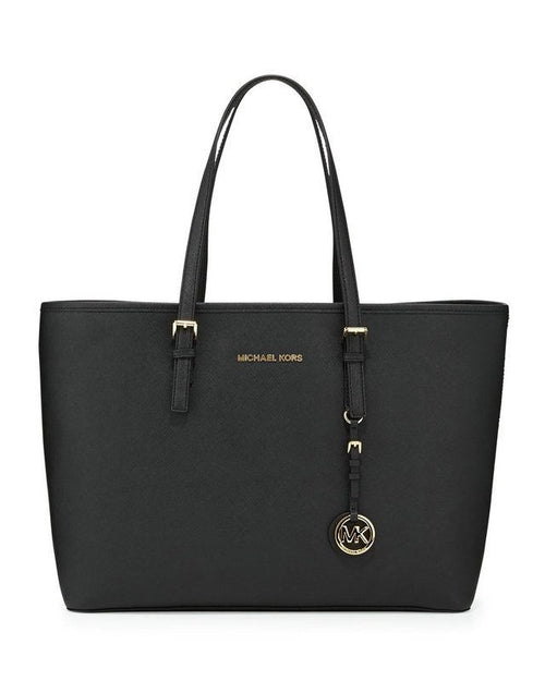 MICHAEL KORS Medium Jet Set Saffiano Travel Tote,-MICHAEL MICHAEL KORS-Fashionbarn shop