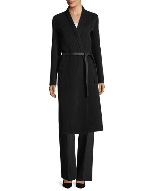 Narciso Rodriguez Contour-Yoke Virgin Wool Straight-Leg Pants