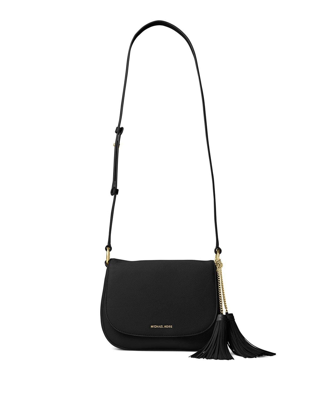 MICHAEL Michael Kors Elyse Large Saddle Bag Black