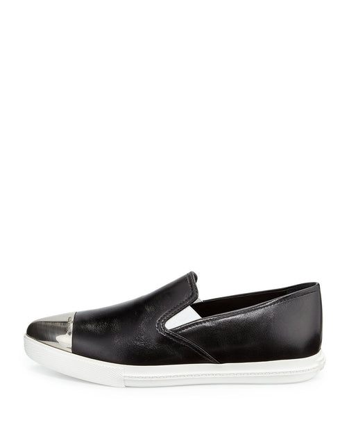 Miu Miu Metal-Toe-Cap Slip-On Sneakers