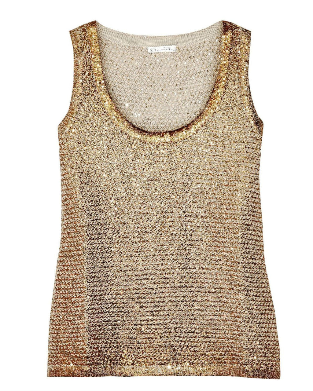 Oscar De La Renta Women's Coated Sequined Knitted Tank