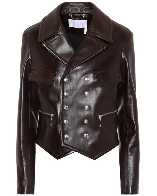 Chloe Leather Biker Jacket