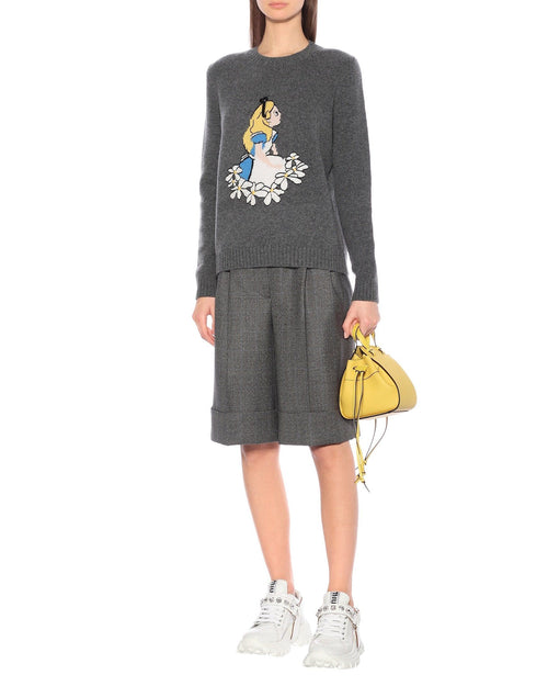 Miu Miu Intarsia Virgin Wool Sweater