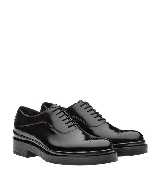 Prada Men's Brushed Leather Oxford Shoes