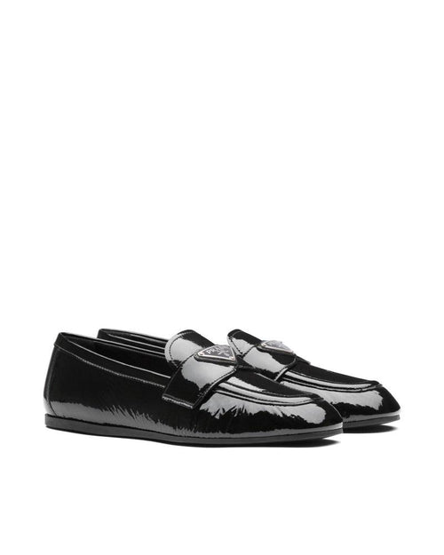 Prada Patent Leather Loafers, Black