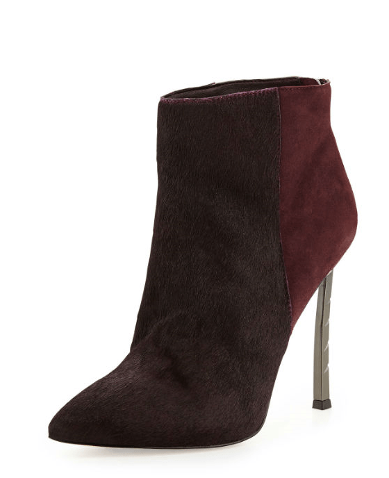 Sam Edelman Sandy Calf Hair Combo Bootie, Burgundy - Fashionbarn shop - 1